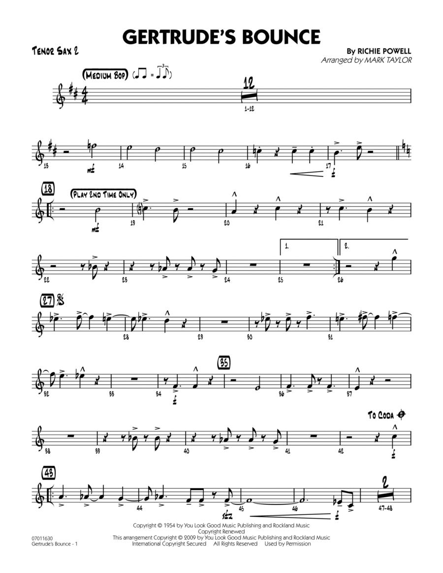 Gertrude's Bounce - Tenor Sax 2