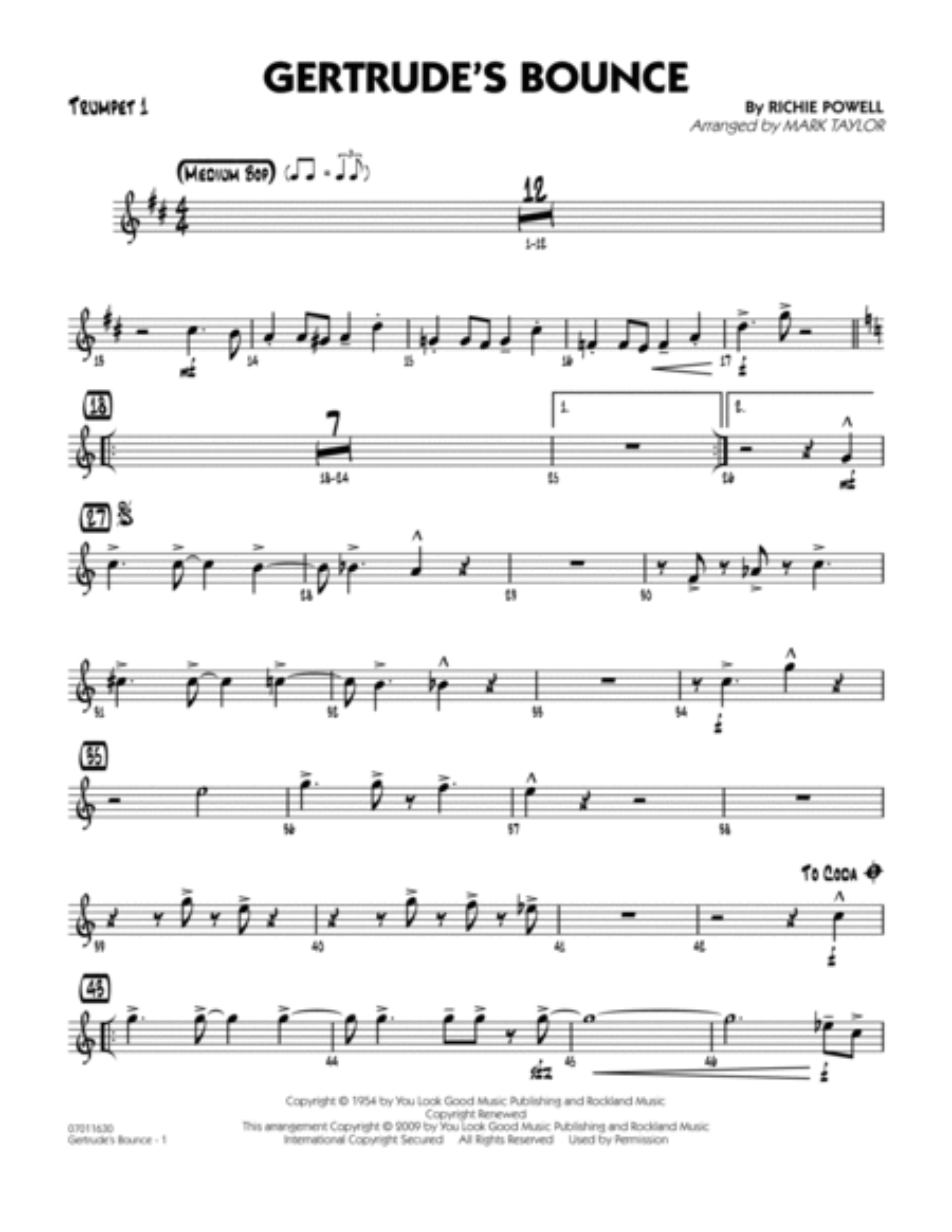 Gertrude's Bounce - Trumpet 1