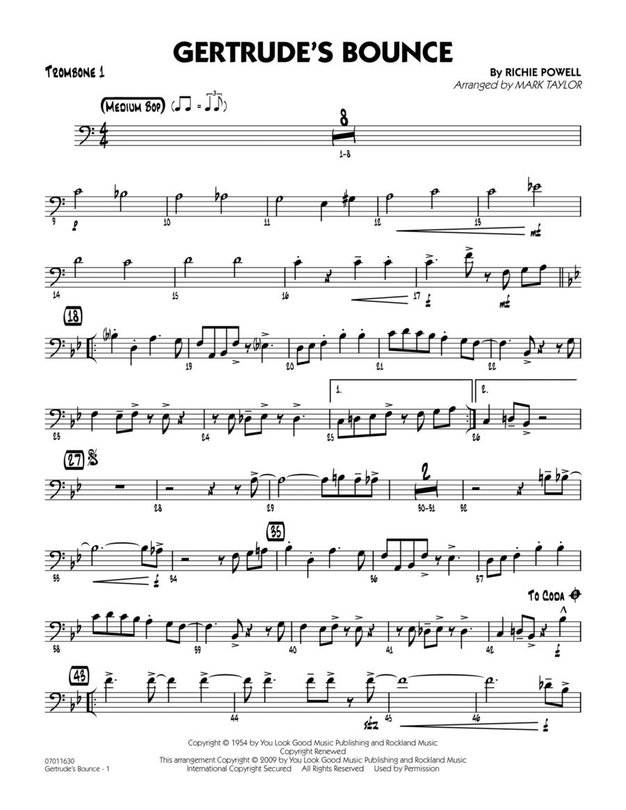 Gertrude's Bounce - Trombone 1