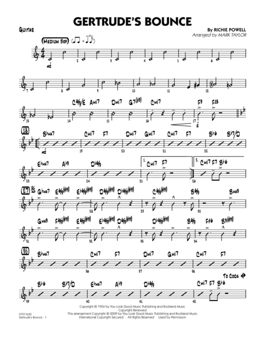 Gertrude's Bounce - Guitar