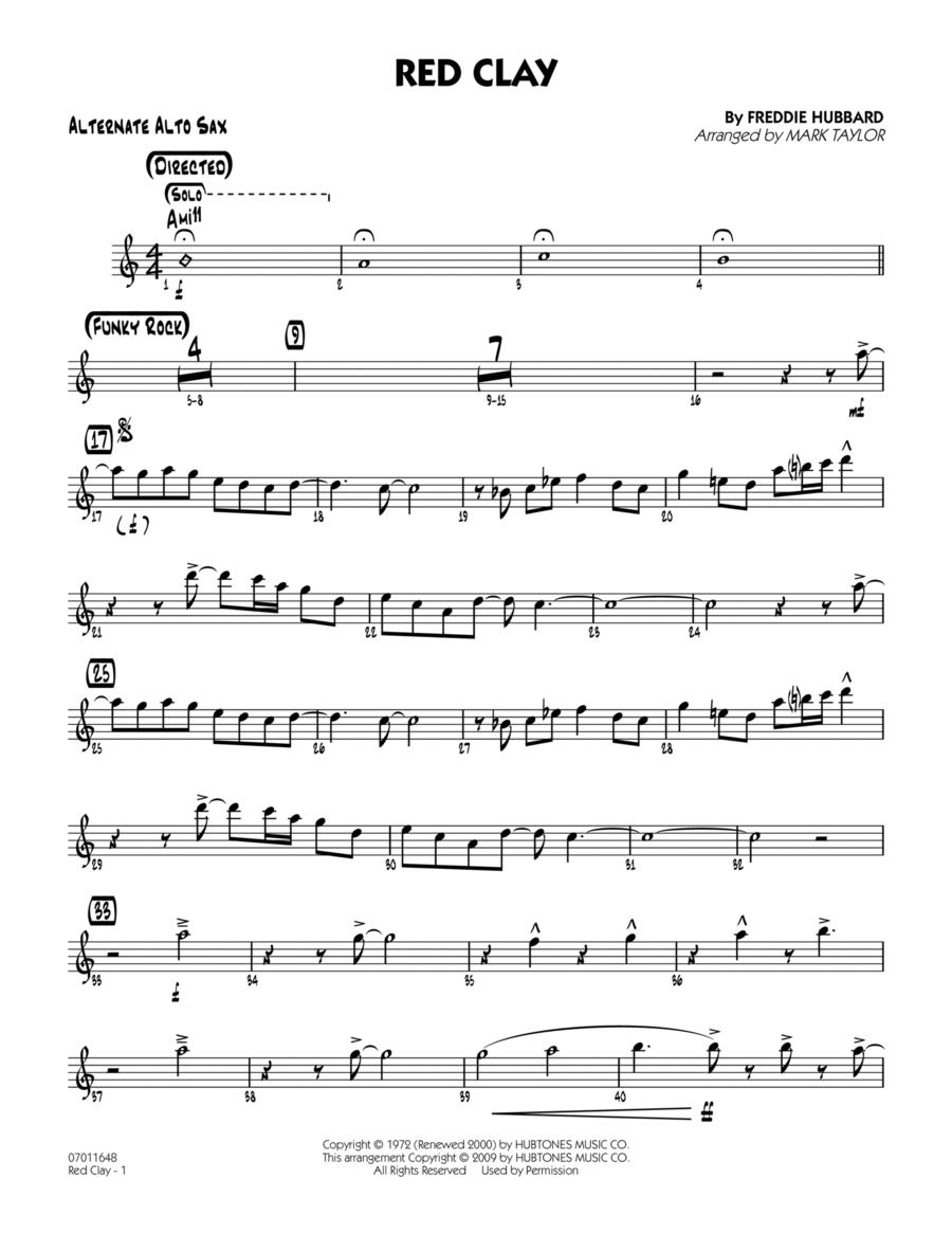 Red Clay - Alternate Alto Sax