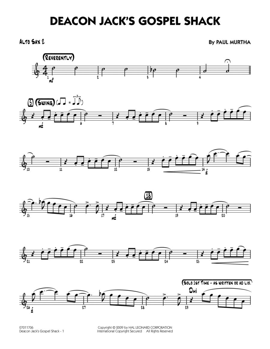 Deacon Jack's Gospel Shack - Alto Sax 2