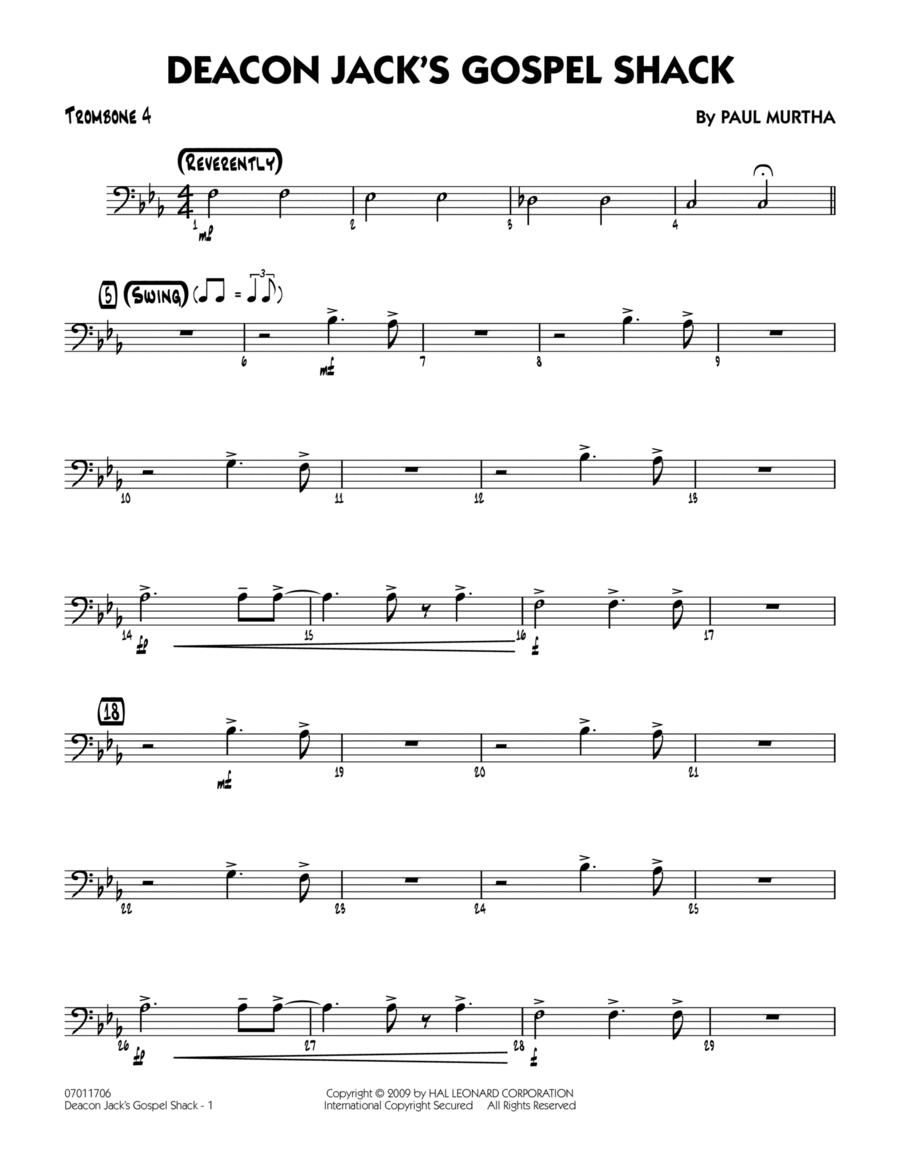 Deacon Jack's Gospel Shack - Trombone 4