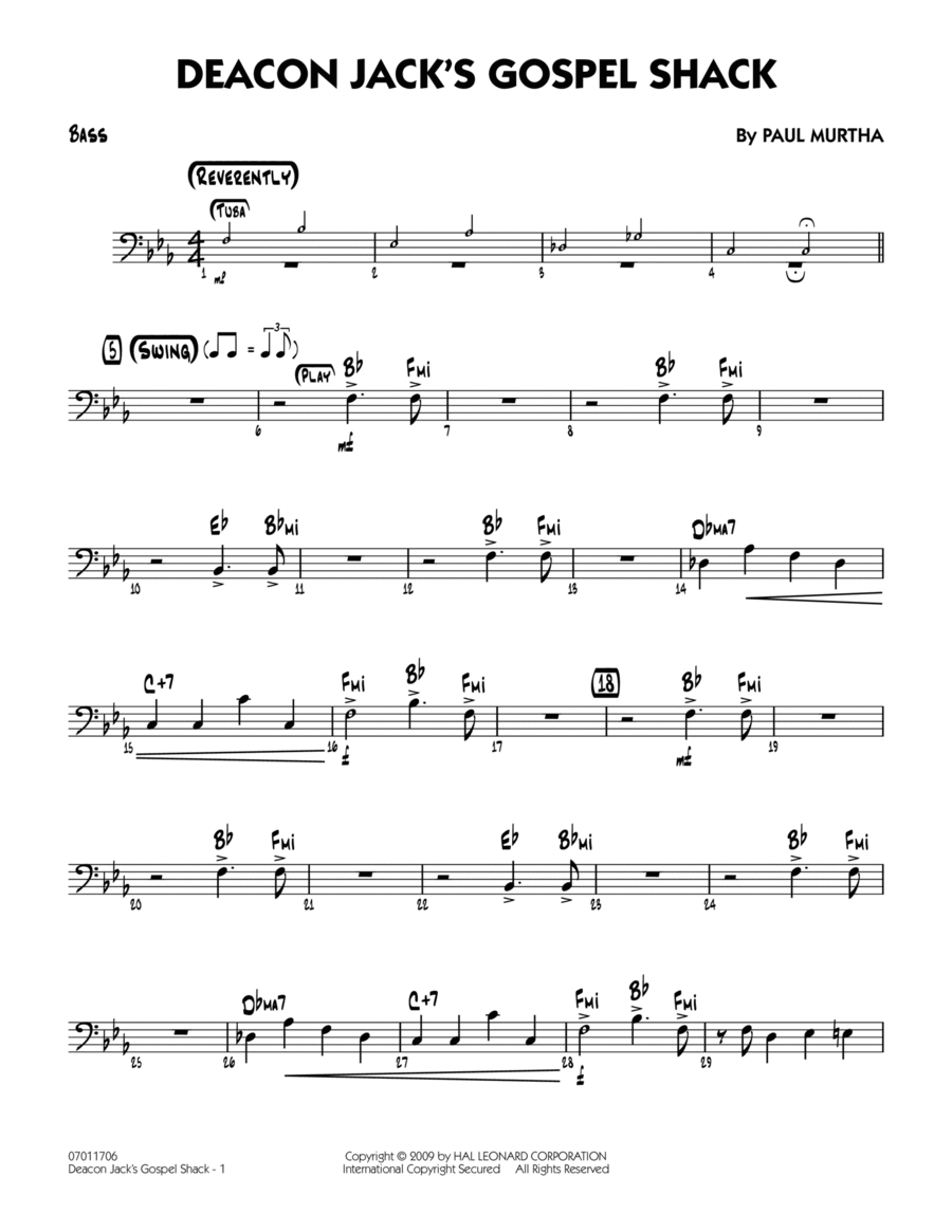 Deacon Jack's Gospel Shack - Bass
