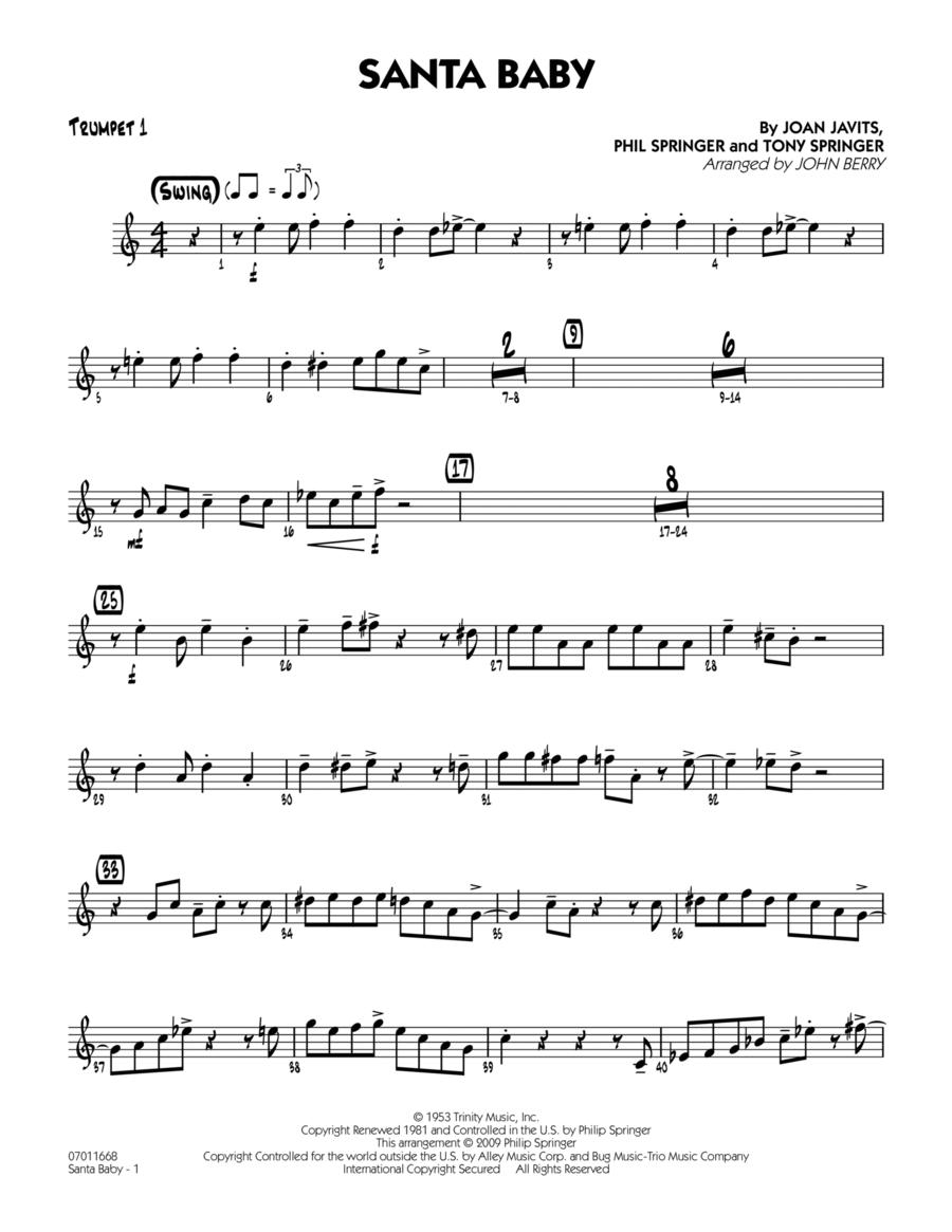 Santa Baby - Trumpet 1