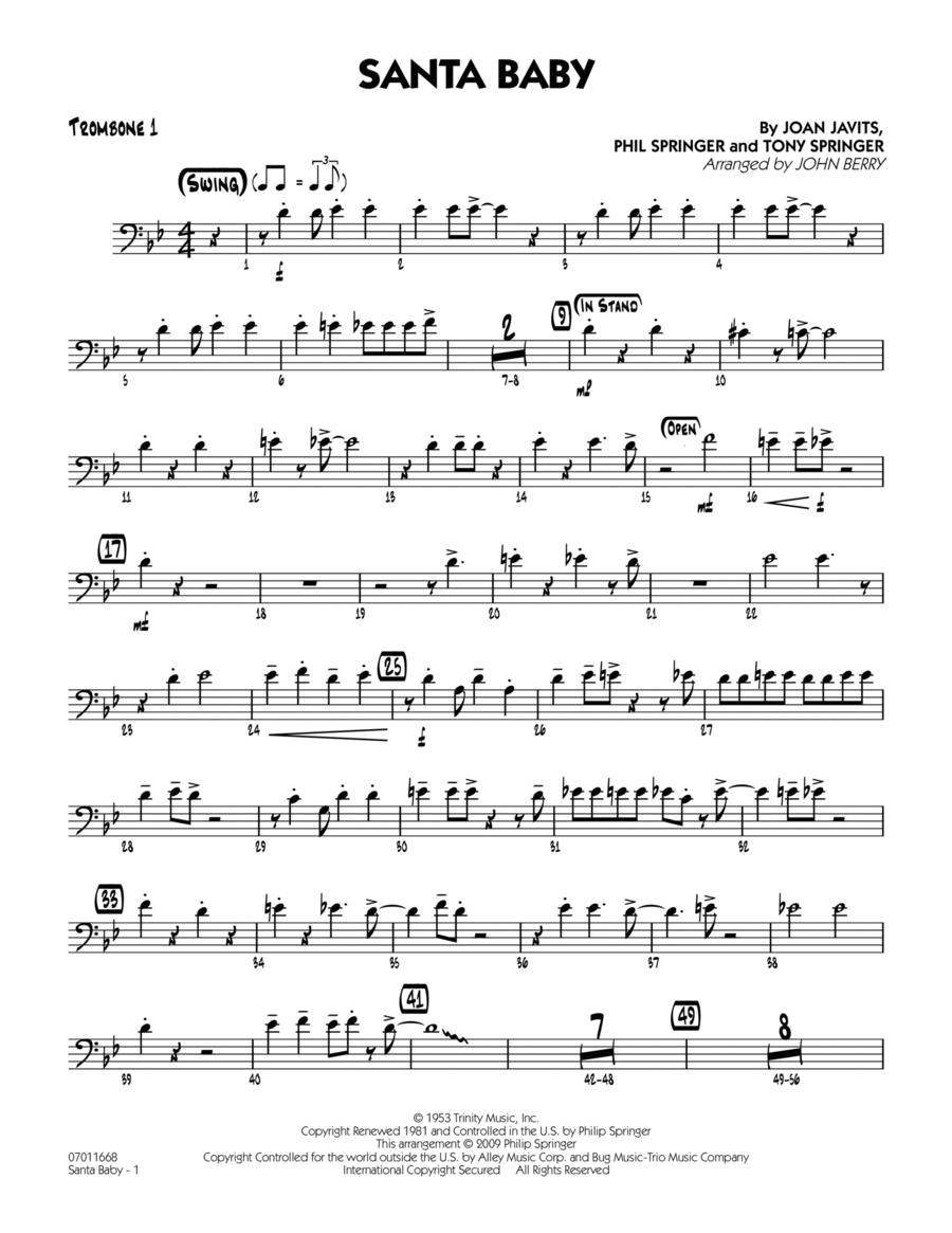 Santa Baby - Trombone 1