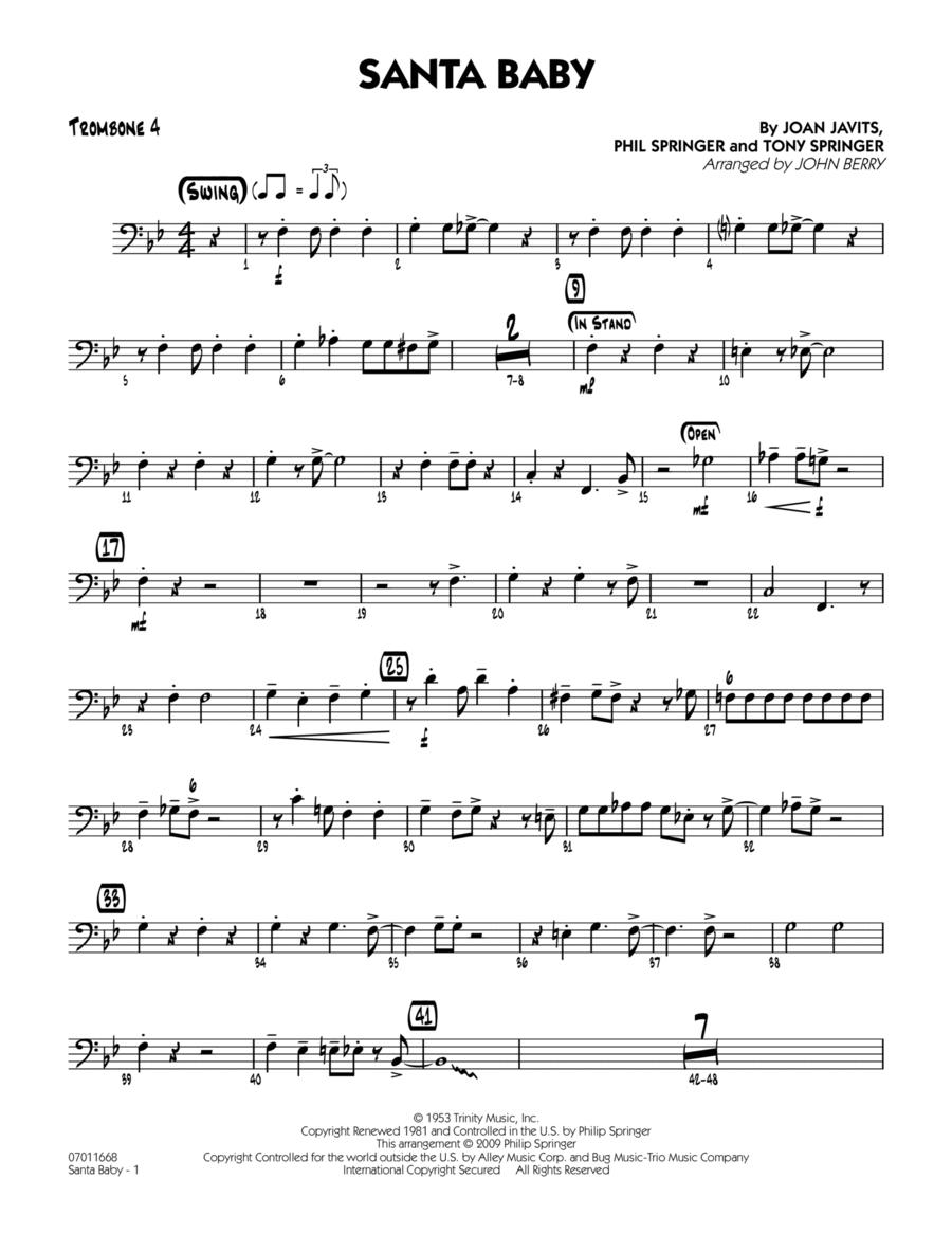 Santa Baby - Trombone 4