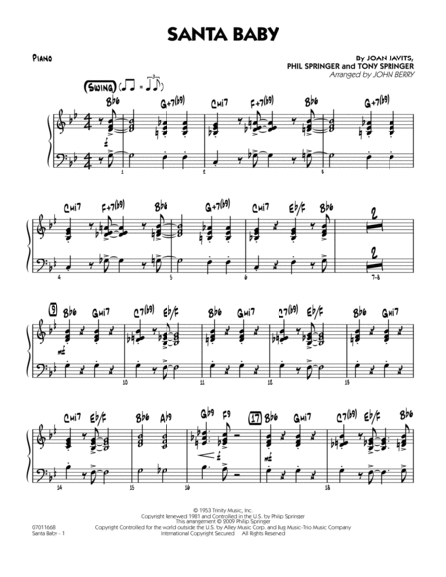 Santa Baby - Piano
