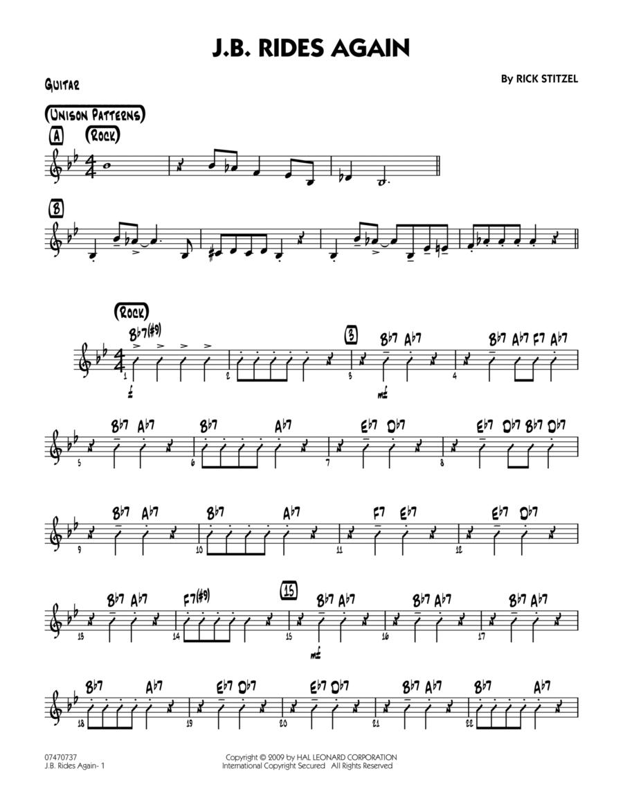 J.B. Rides Again - Guitar