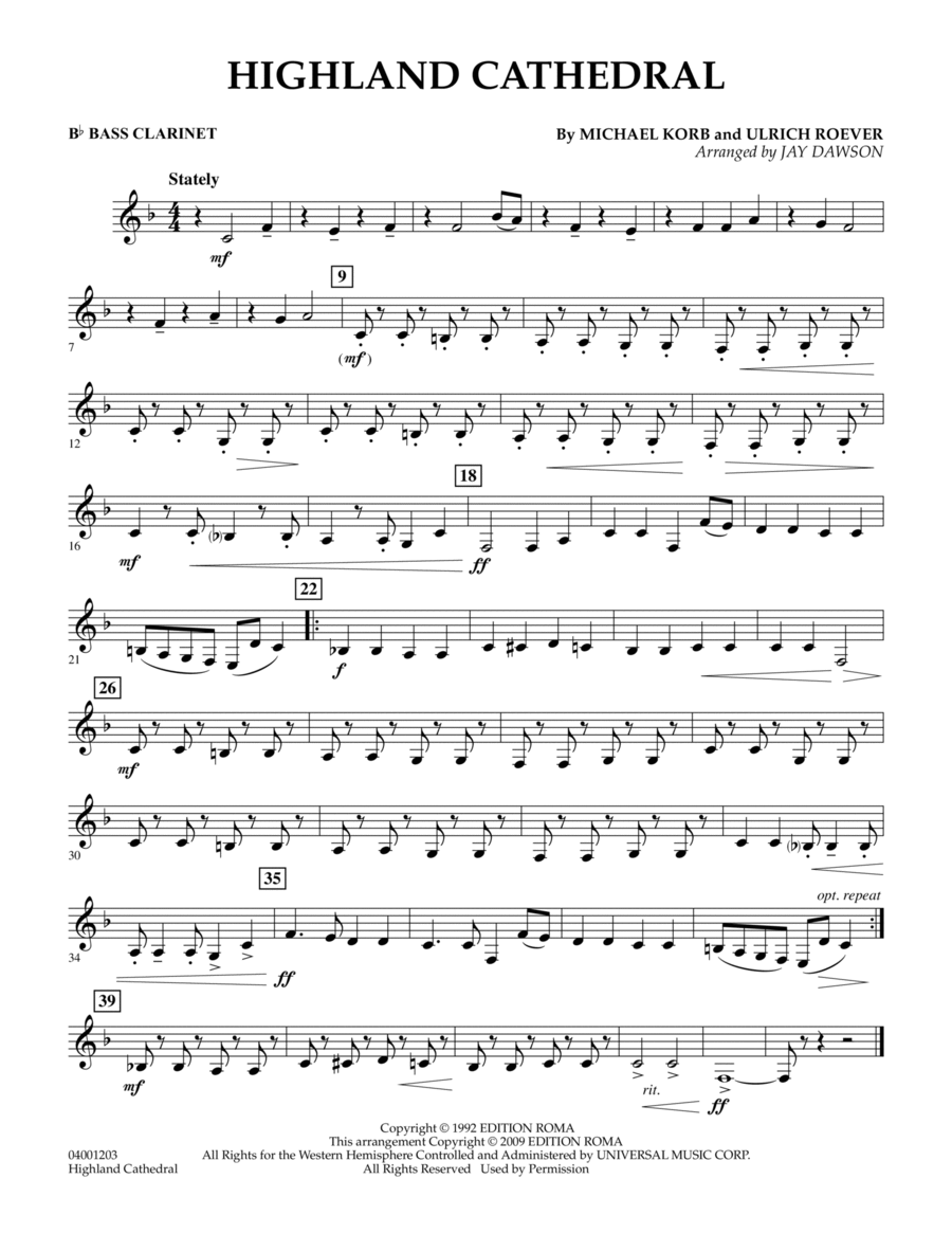 highland cathedral sheet music pdf