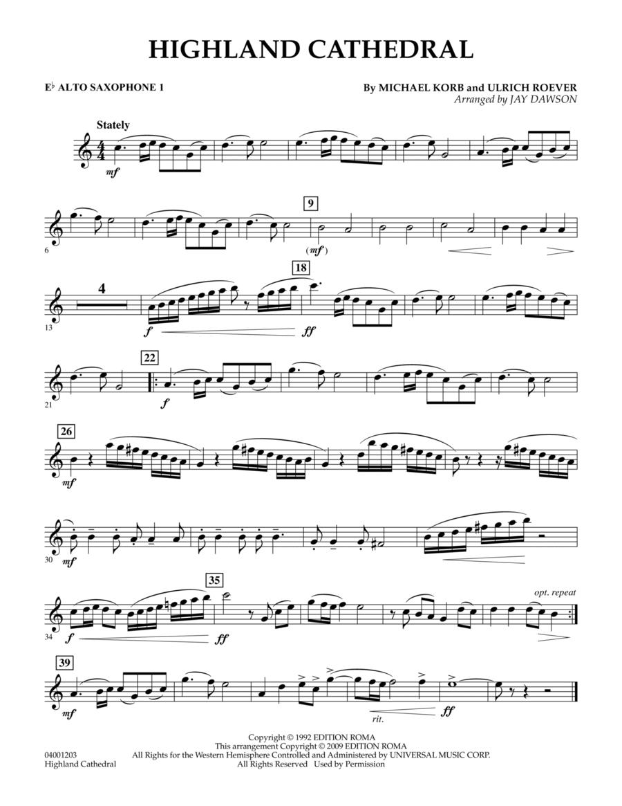Highland Cathedral - Eb Alto Saxophone 1
