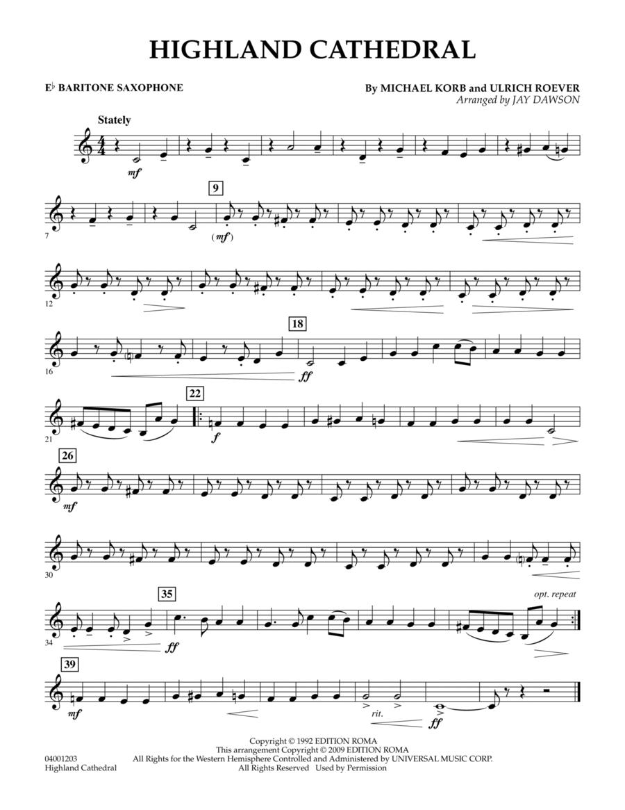 Highland Cathedral - Eb Baritone Saxophone