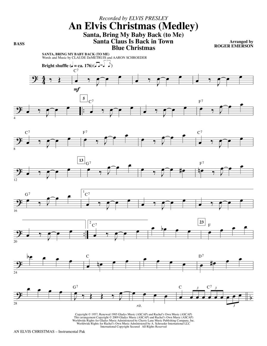 An Elvis Christmas (Medley) - Bass