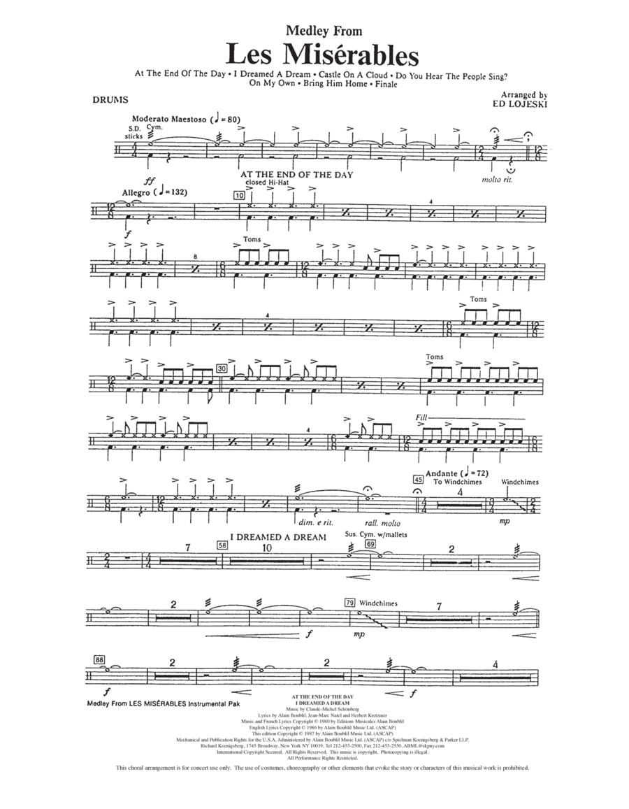 Les Miserables (Choral Medley) - Drums