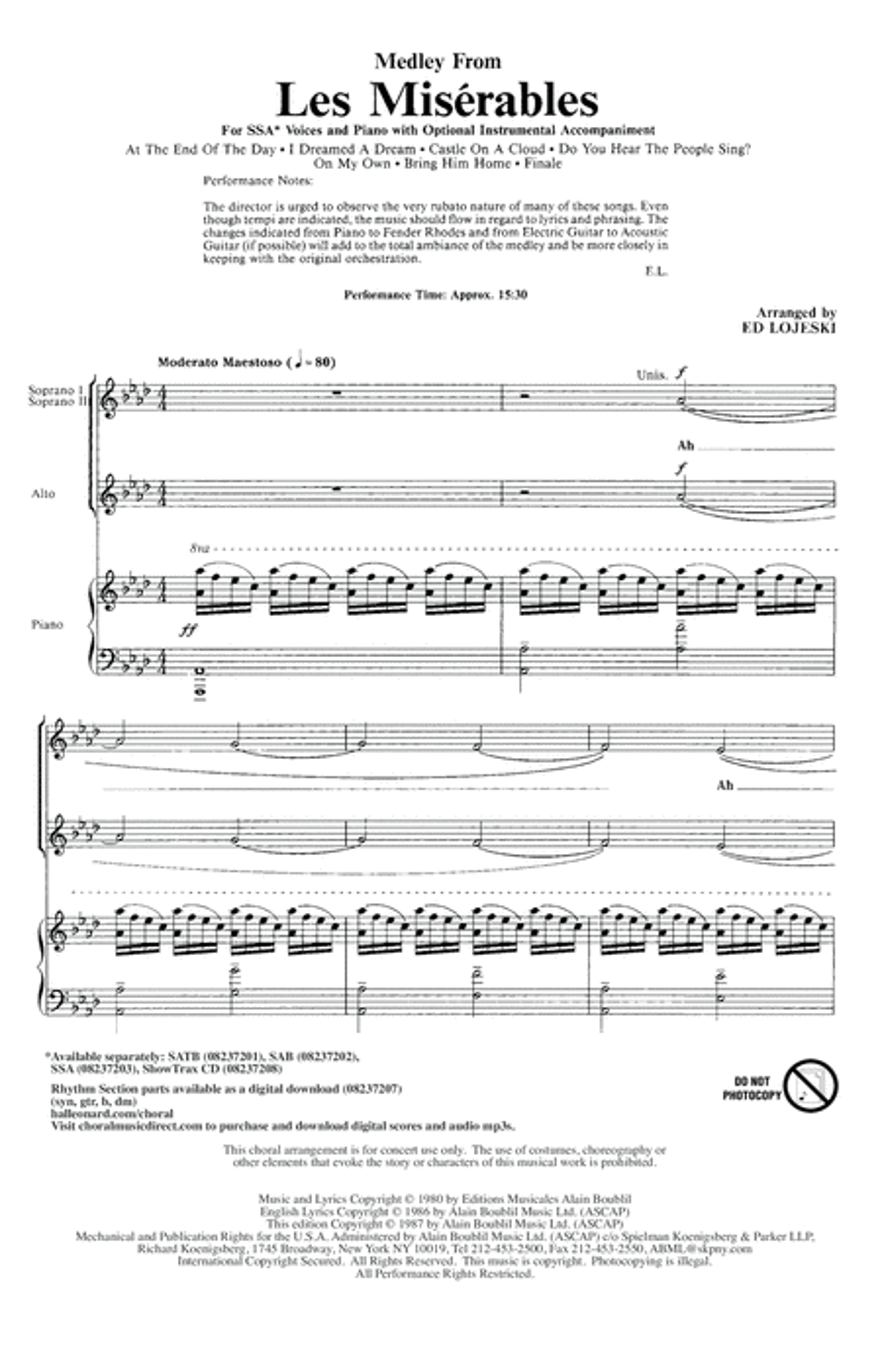Les Miserables (Choral Medley)