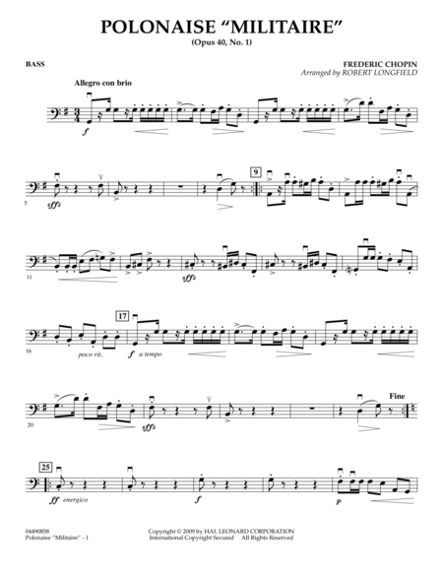 Polonaise Militaire - Bass