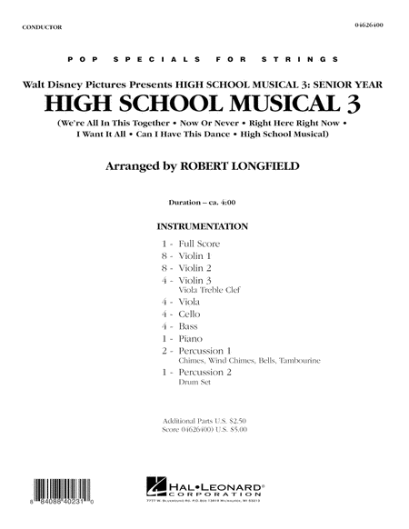 High School Musical 3 - Full Score