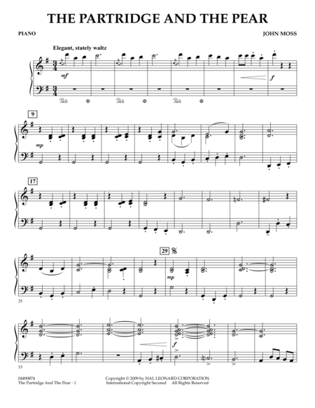 The Partridge and the Pear - Piano
