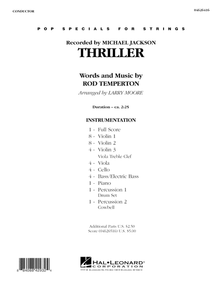 Thriller - Full Score
