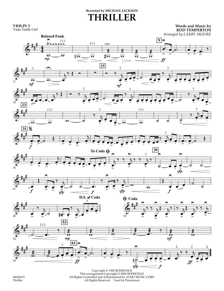 Thriller - Violin 3 (Viola T.C.)