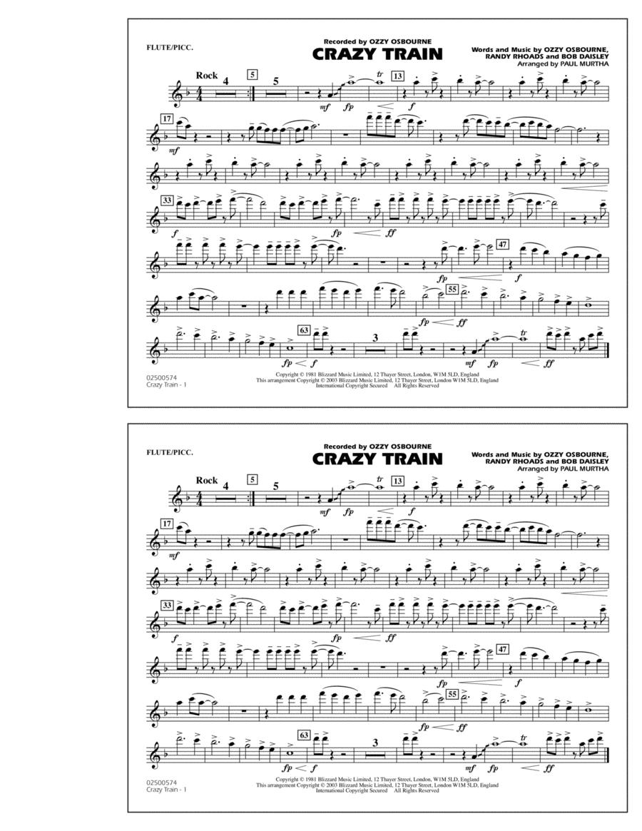 Crazy Train - Flute/Piccolo