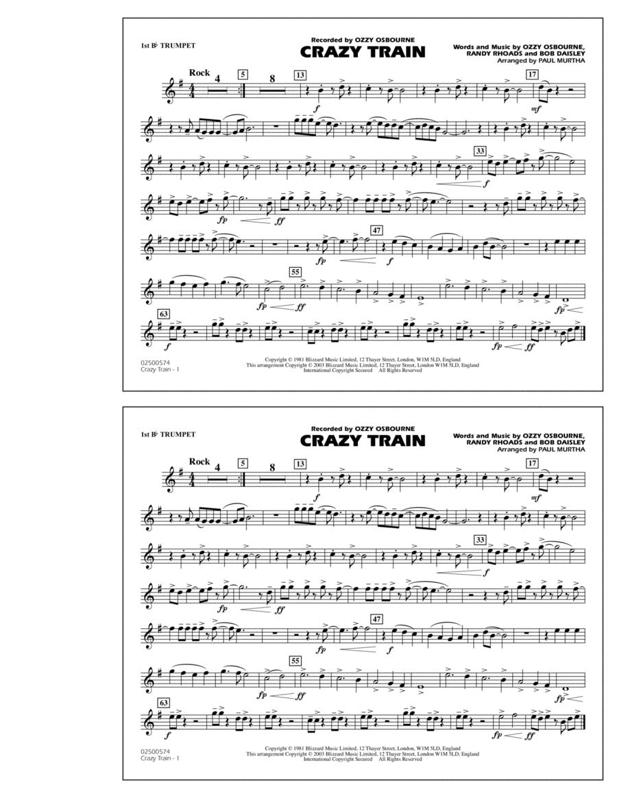 Guitar crazy train guitar tabs : Crazy Train - 1st Bb Trumpet
