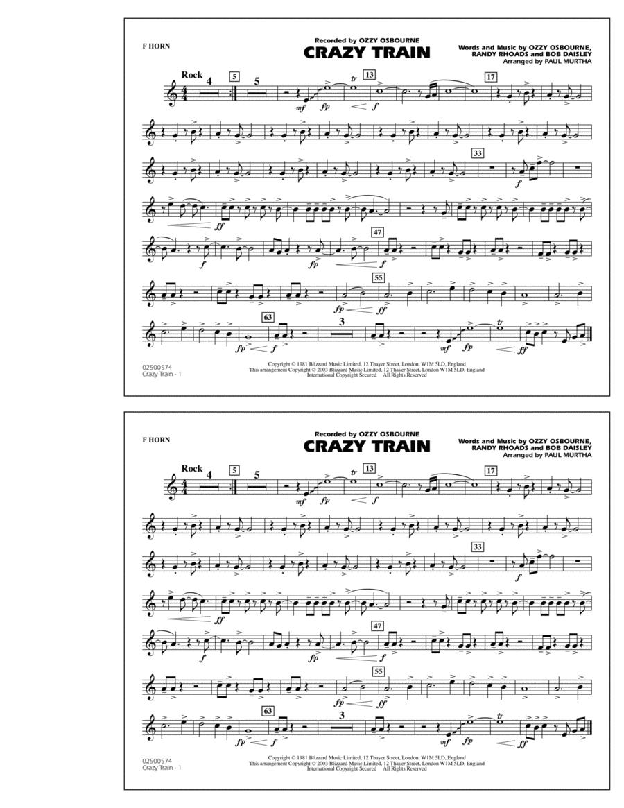 Crazy Train - F Horn