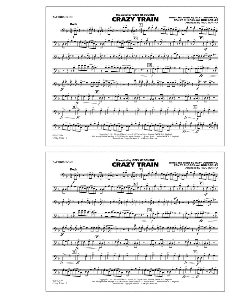 Crazy Train - 2nd Trombone