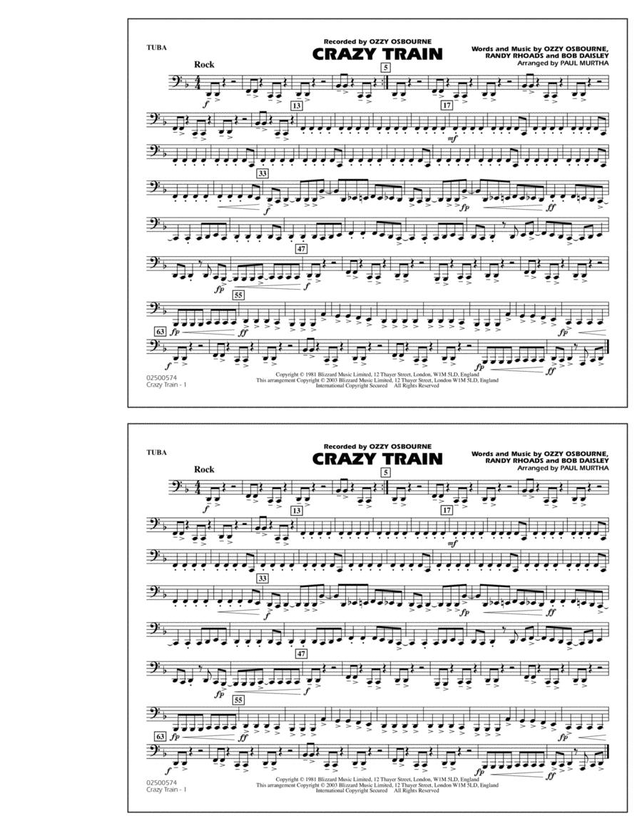 Guitar crazy train guitar tabs : Crazy Train - Tuba