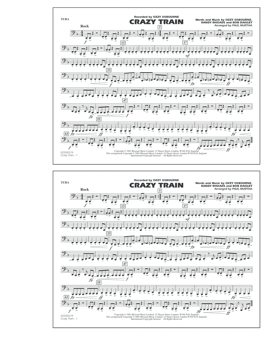 Crazy Train - Tuba