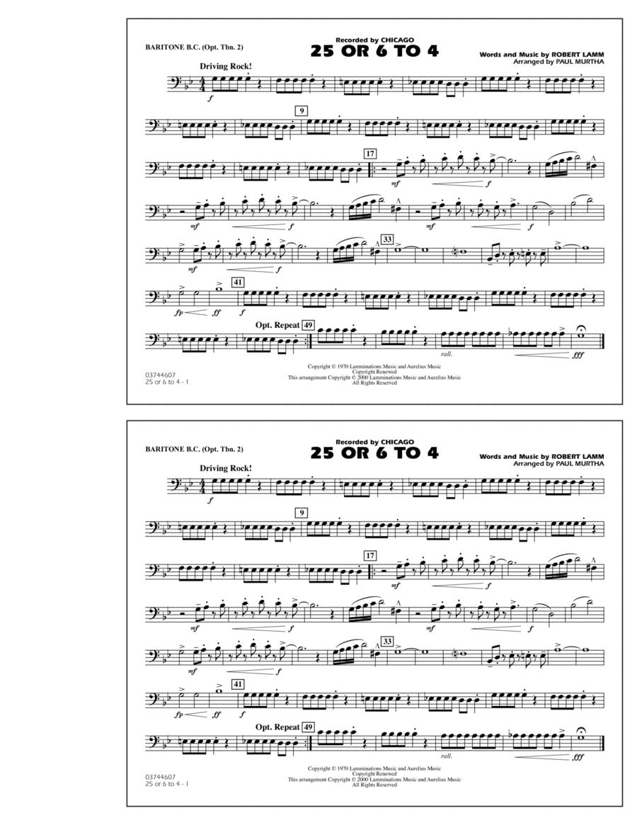 25 Or 6 To 4 - Baritone B.C. (Opt. Tbn. 2)