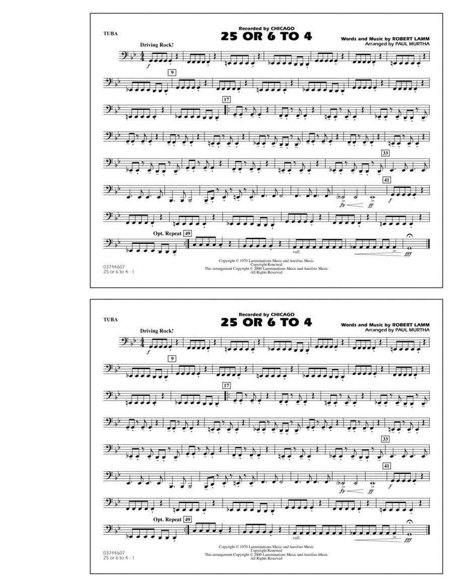25 Or 6 To 4 - Tuba