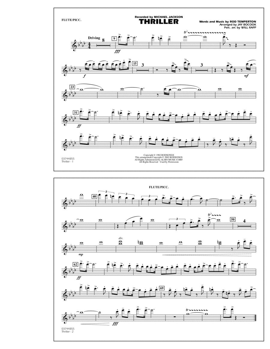 Thriller - Flute/Piccolo