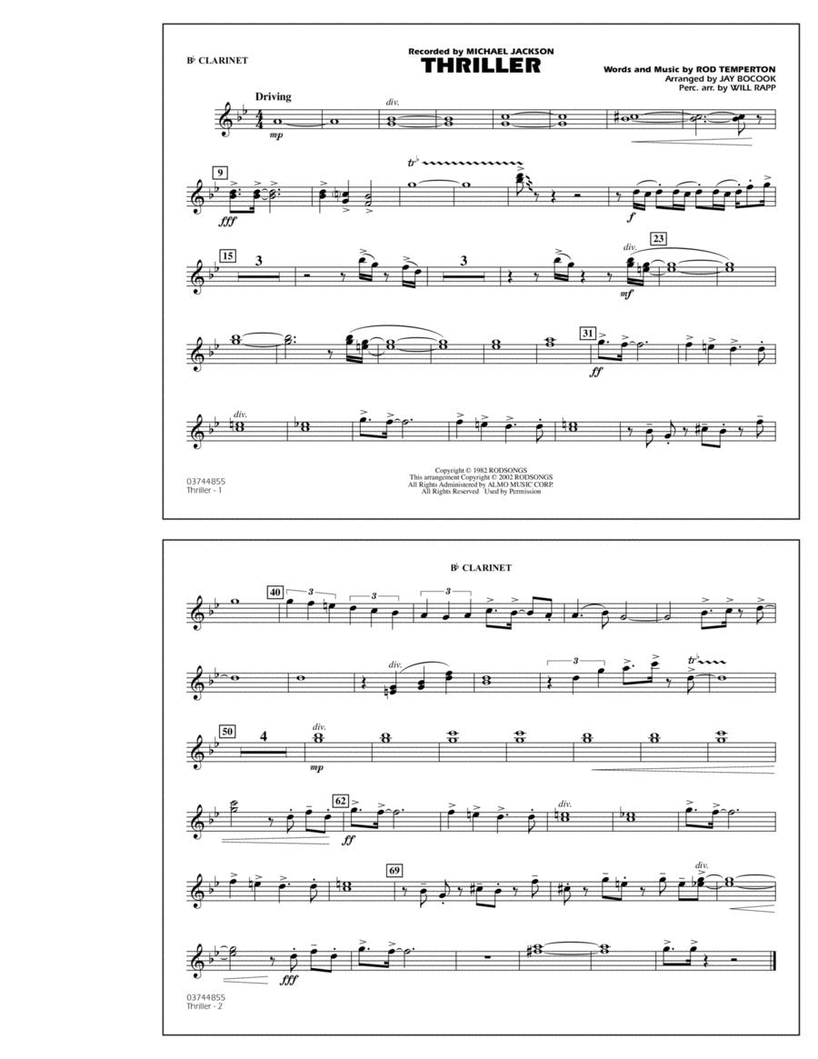 Thriller - Bb Clarinet