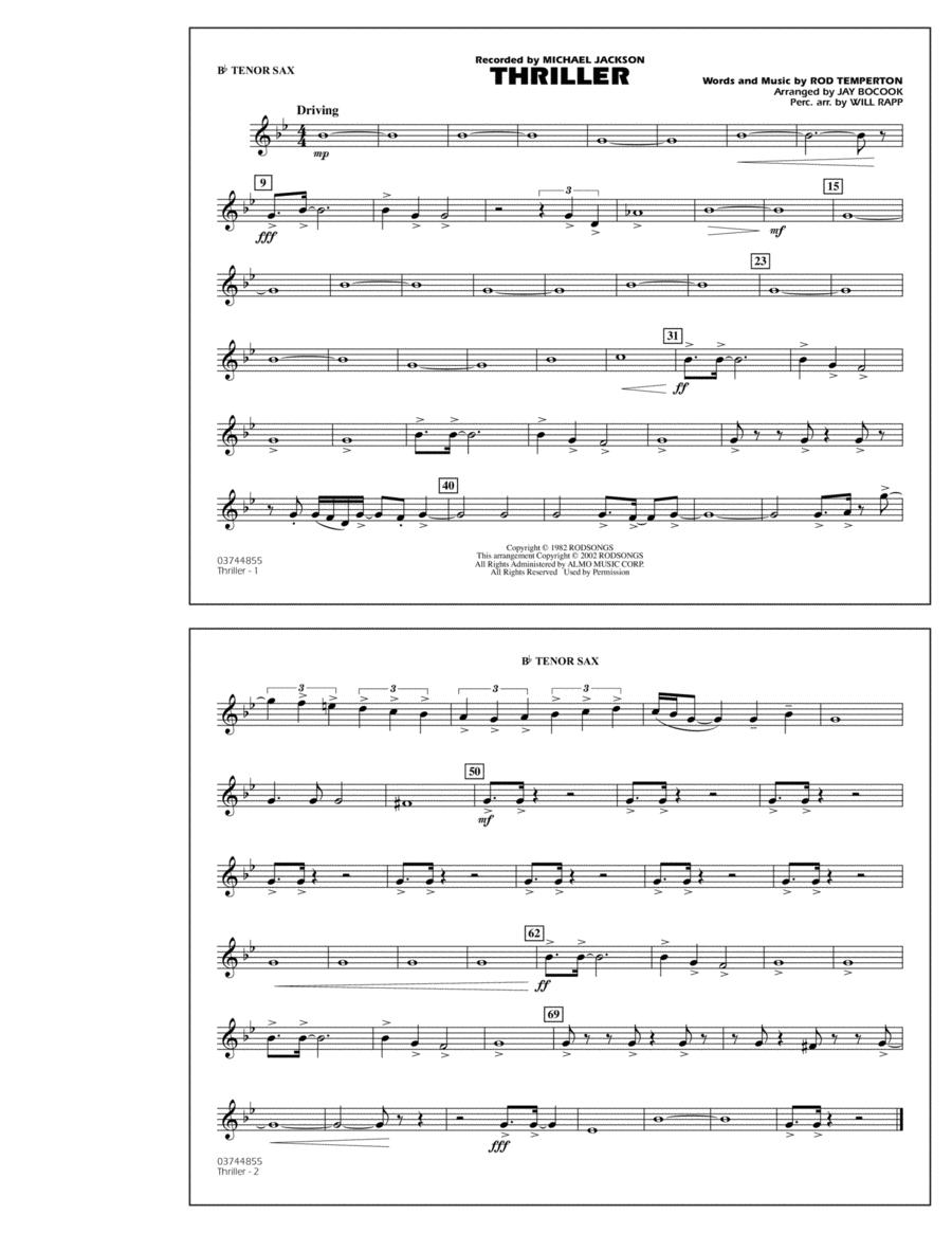 Thriller - Bb Tenor Sax