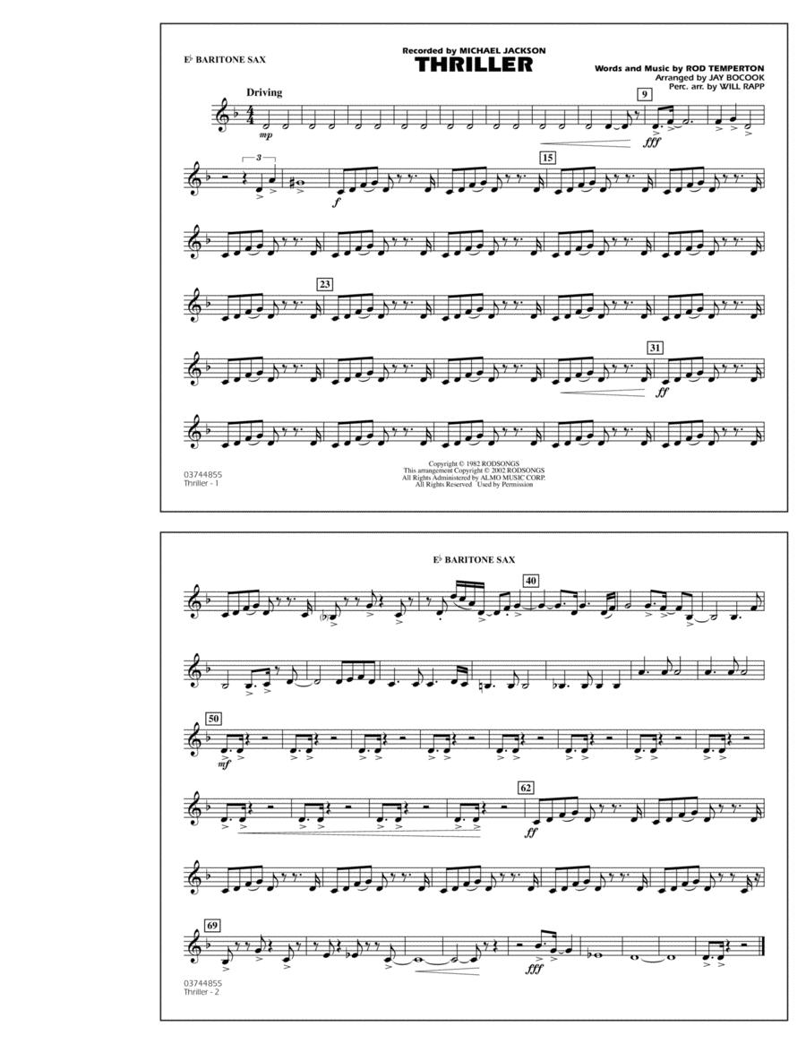 Thriller - Eb Baritone Sax