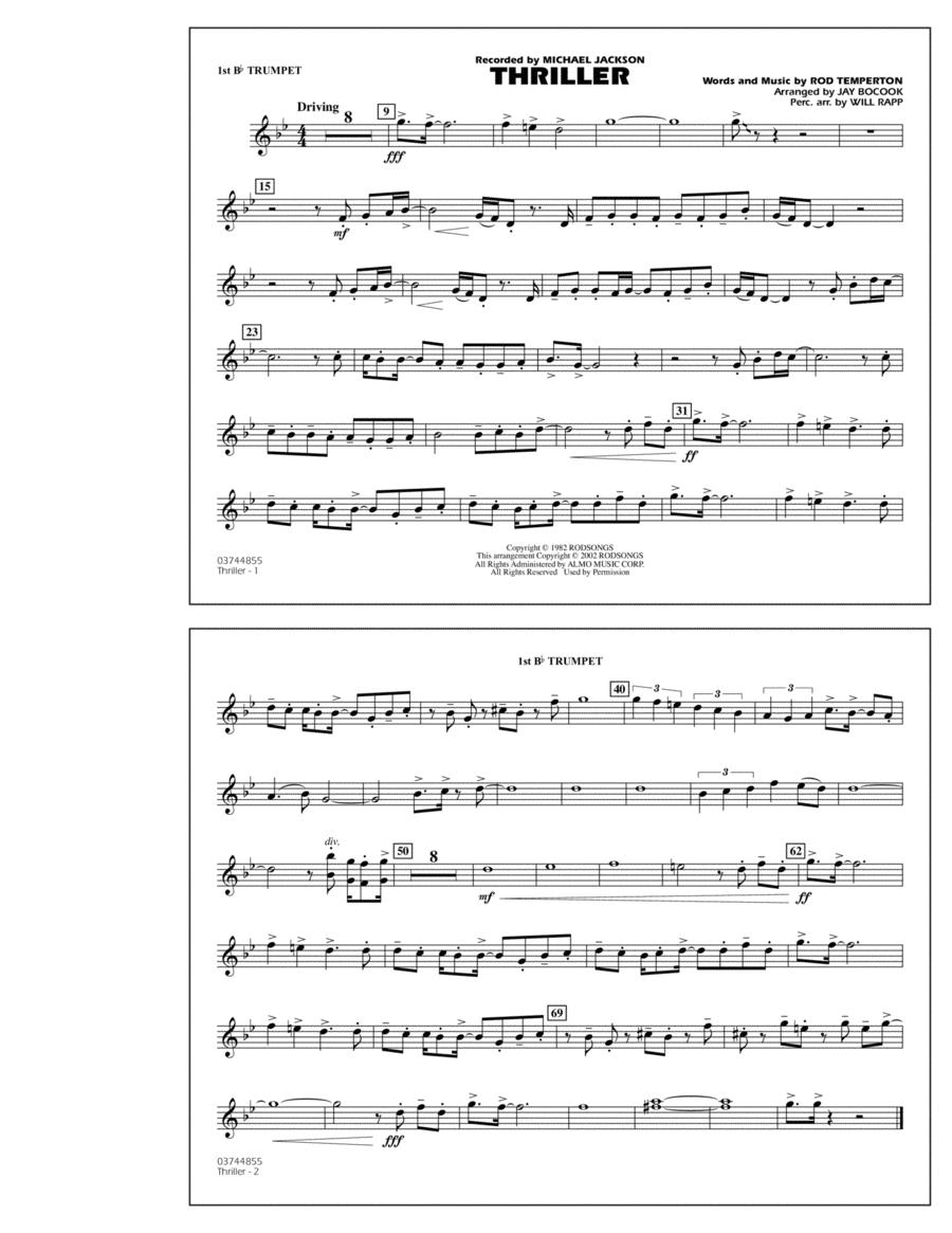 Thriller - 1st Bb Trumpet