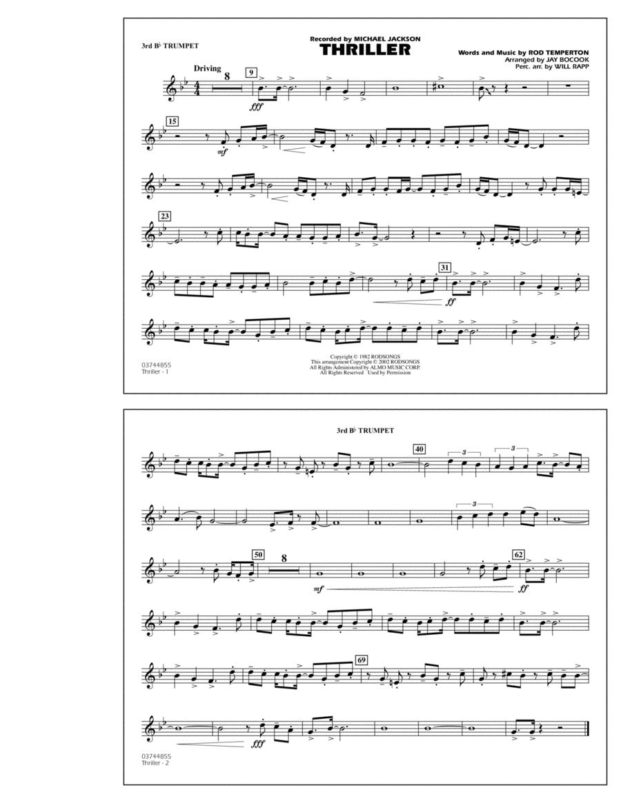 Thriller - 3rd Bb Trumpet