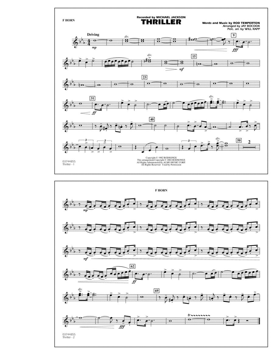 Thriller - F Horn
