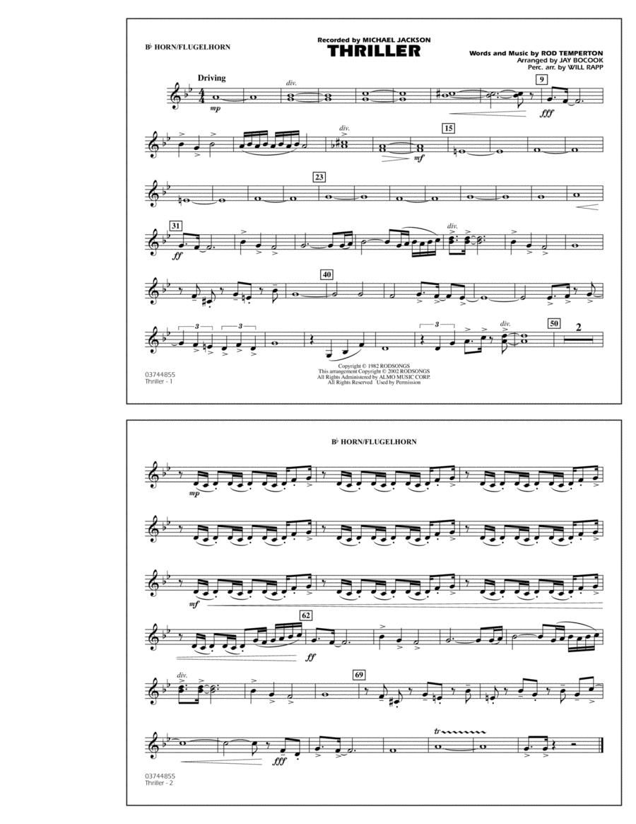 Thriller - Bb Horn/Flugelhorn