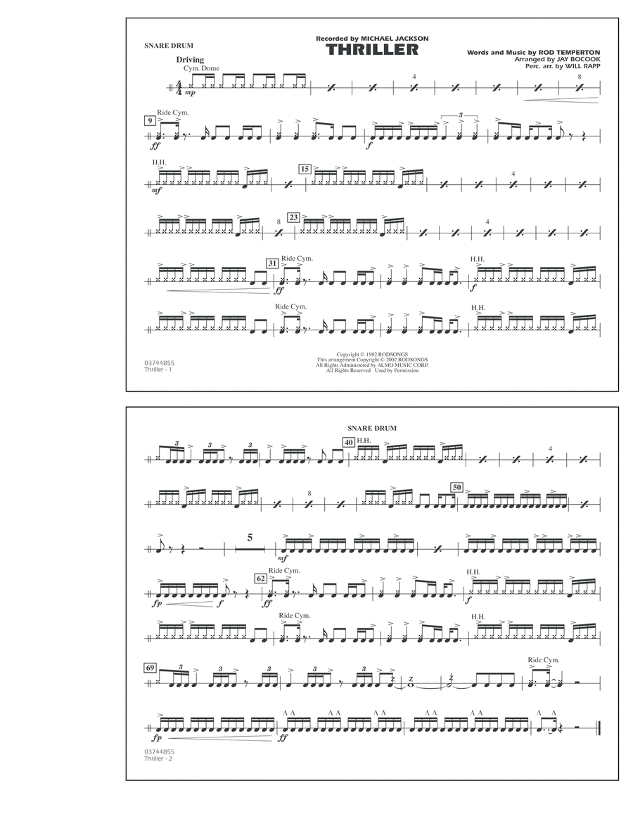 Thriller - Snare Drum
