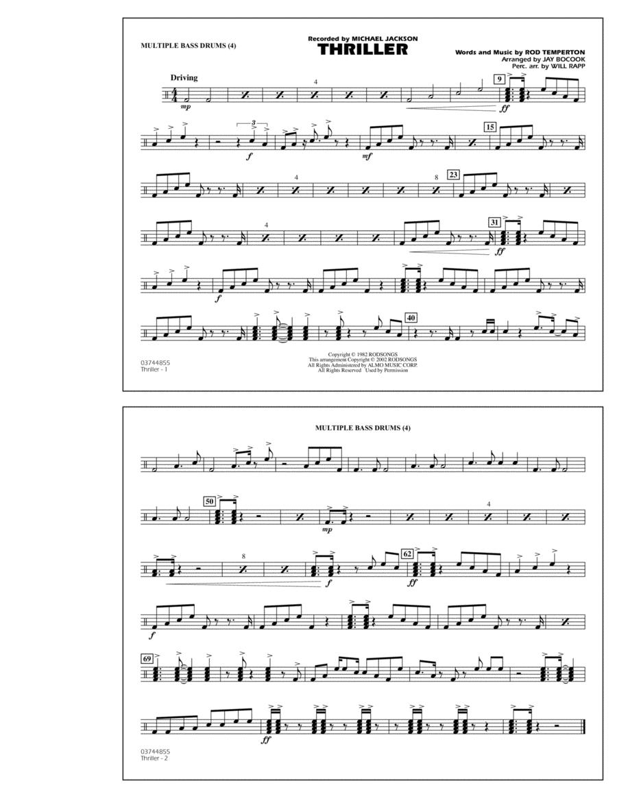 Thriller - Multiple Bass Drums