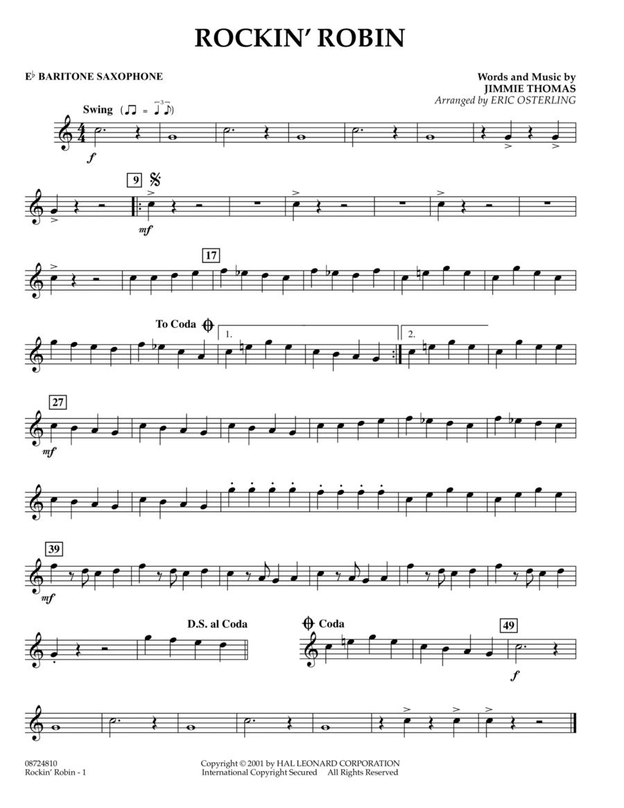 Rockin' Robin - Eb Baritone Saxophone