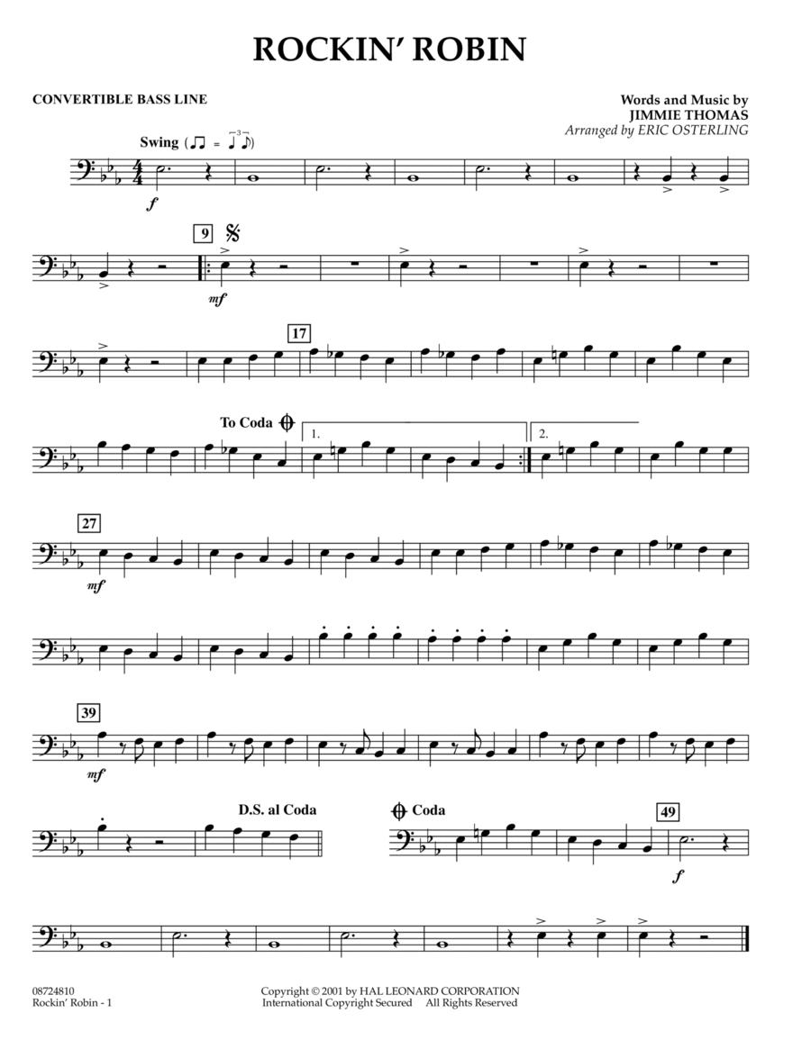 Rockin' Robin - Convertible Bass Line