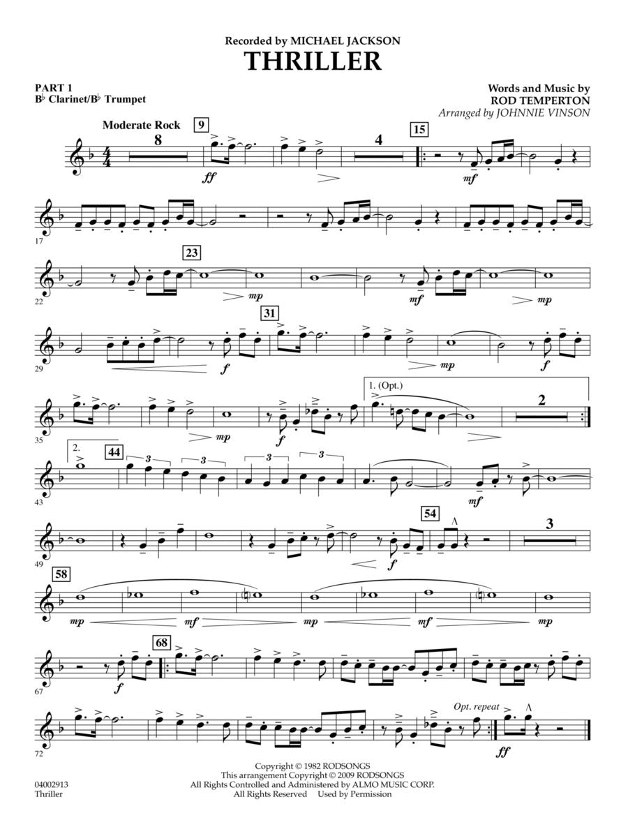 Thriller - Pt.1 - Bb Clarinet/Bb Trumpet
