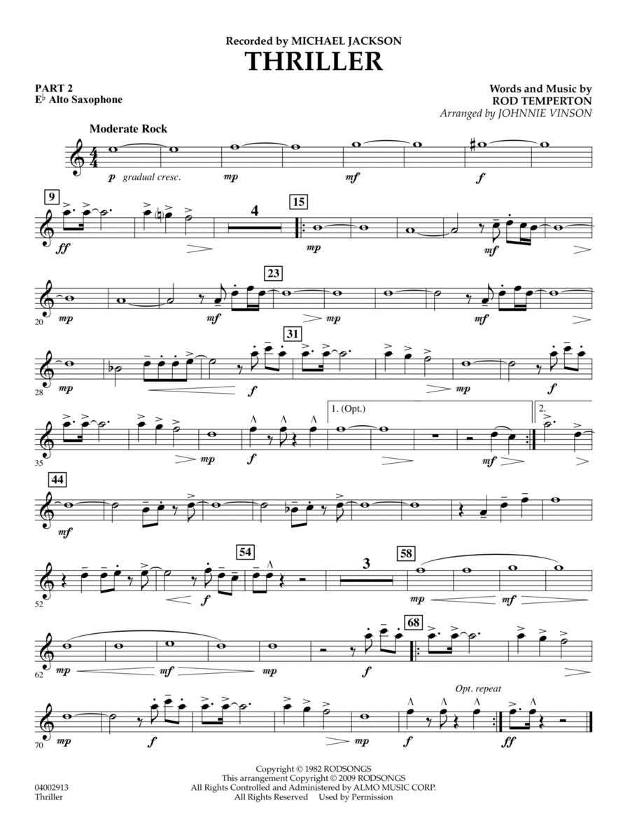 Thriller - Pt.2 - Eb Alto Saxophone