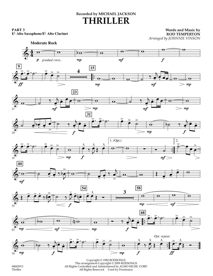 Thriller - Pt.3 - Eb Alto Sax/Alto Clar.