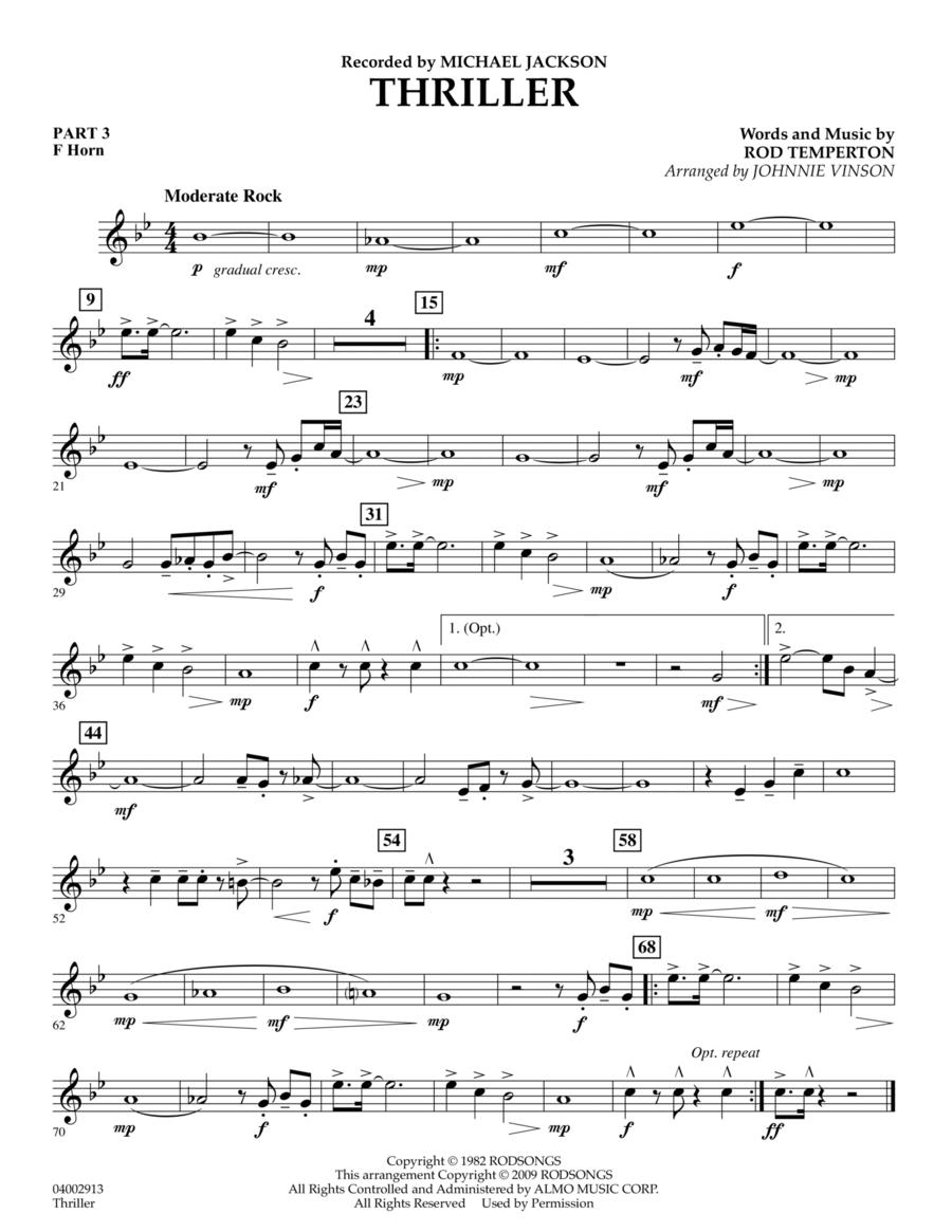 Thriller - Pt.3 - F Horn