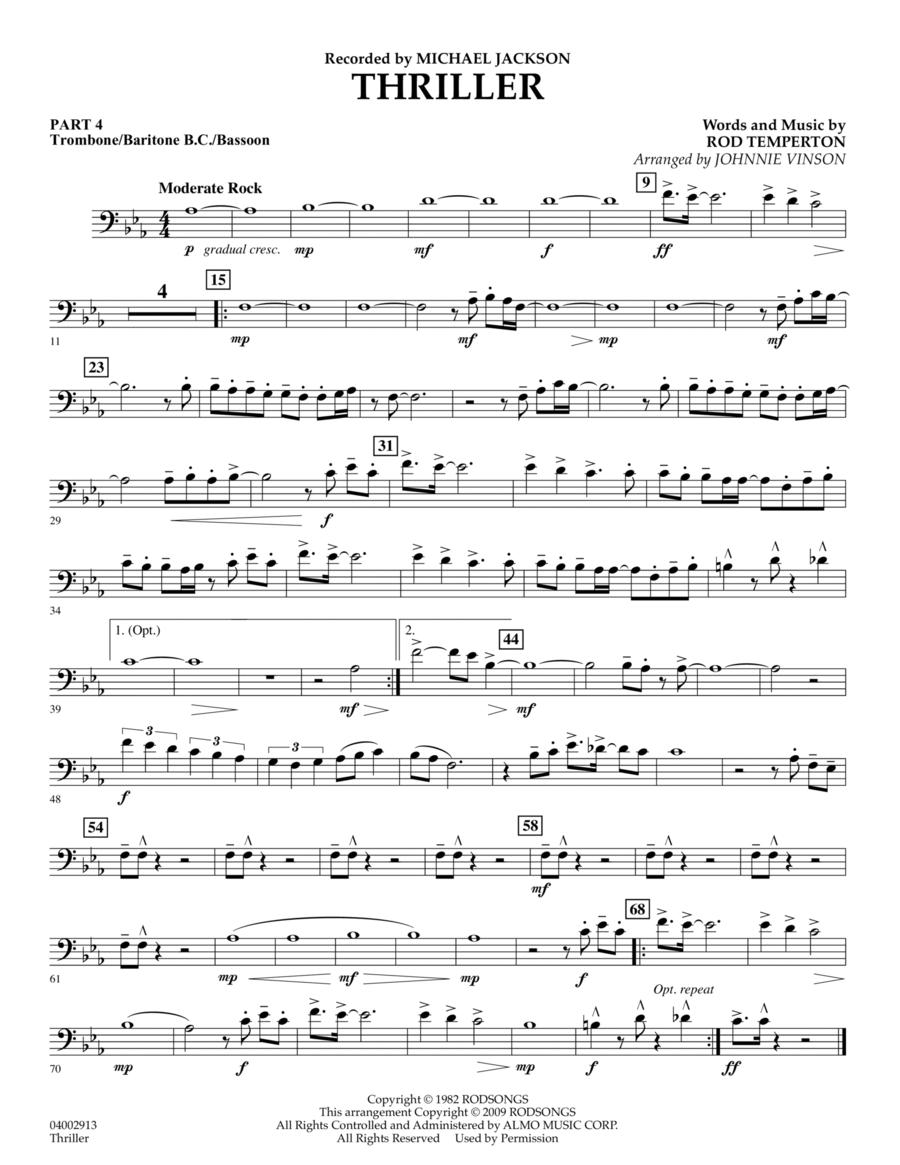 Thriller - Pt.4 - Trombone/Bar. B.C./Bsn.