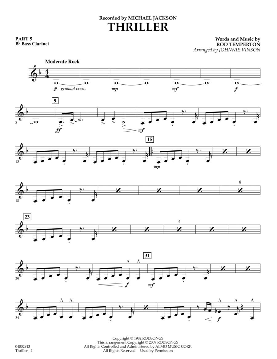 Thriller - Pt.5 - Bb Bass Clarinet